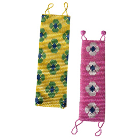 """Maya Bead Bracelets (Daisies) Crafted by Artisans in Guatemala  Measure approximately 6 3/4"""" long x 1 1/2"""" wide"""