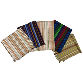 """Hand Woven Cotton Scarf  Crafted by Artisans in Guatemala  Measures about 70"""" long x 8"""" wide"""