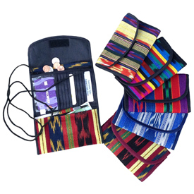 """Woven Shoulder Wallet Crafted by Artisans in Guatemala  Measures about 4-1/2"""" high x 7"""" wide x 1"""" deep when closed"""