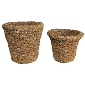 Vetiver Waist Baskets Crafted by Artisans in Haiti  Small Waist Basket Measures - 8 1/2'' high x 8'' wide x 7 1/2'' inside deep Large Waist Basket Measures - 9 1/2'' high x 10 1/2'' wide x 8 1/2'' inside deep