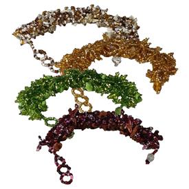 Glass Beaded Bracelets from Guatemala Bracelet measures - 8 1/2'' long x 1'' wide