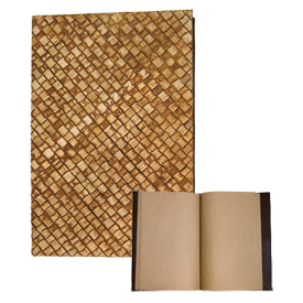 Natural Fiber Journal from Philippines Journal Measure - 8 7/8'' long x 6'' wide x 7/8'' thick Recycled Paper