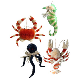 Sea creatures made from Abaca Fiber Handmade in the Philippines by Artisans of Disenio de Craftico