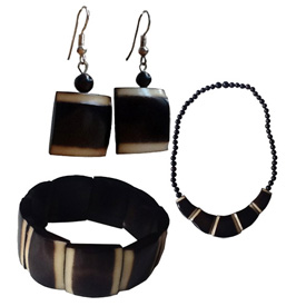 Tagua Striped Design Collection from Ecuador