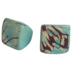 Aqua Tagua Ring Made in Ecuador SIze 6. Rings are a natural Product Dimensions will vary