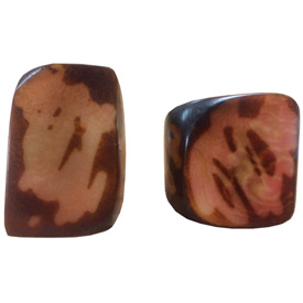 Maroon and Tan Tagua Ring Made in Ecuador SIze 6, 7, 8 and 9. Rings are a natural Product Dimensions will vary