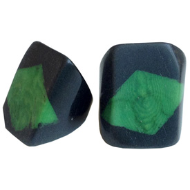 Green and Black Tagua Ring Made in Ecuador SIze 6, 7, 8 and 9. Rings are a natural Product Dimensions will vary