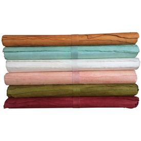 Recycled Wrapping Paper from Nepal Paper Measures - 20 high x 30 wide 4 Sheets Per Roll of Handmade Recycled Paper