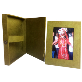 Lokta Paper Picture Frame with Box from Nepal 4x6 Picture Frame Dimensions - 3 1/2 x 5 1/2 5x7 Dimensions 4 1/2 x 6 1/2