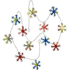 Pop Can Snow Flake Garland  handmade in Guatemala Garland Measures - 73 Long