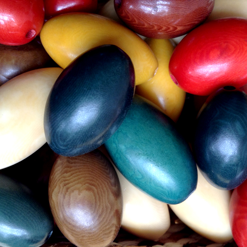 Mix Tagua Nut Round End Barrel Beads 30mm w/ 1.5mm hole - Available in many colors