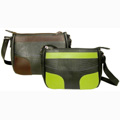 Ninna - Recycled Tire Tube Shoulder Bag - Green Measures: 11 in. wide x 8 in. high x 3.5 in. deep