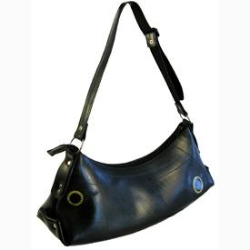 Afra - Large Recycled Tire Tube Shoulder Bag   Measures: 17 wide x 7 high x 5-1/2 deep