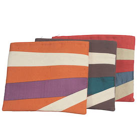 Large Toiletry Bags from Afghanistan, avaialable in brown, orange and red Measures: 7-3/4 high x 9-3/4 wide