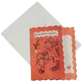 """""""En este dia tan especial...""""   crafted by Artisans in Peru from Handmade Paper   Measures 5-1/4"""" x 4-1/2"""", includes handmade paper envelope"""