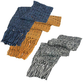 """Two-Toned Alpaca Scarfs crafted by Artisans in Peru   Measures 7"""" wide and 68"""" long"""