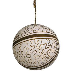 Ceramic Shipibo Ball Ornament Measures: 1-1/2 diameter