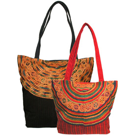 Large Black and Small Red Joybaj Shoulder Bags Large Measures: 18 high x 15 wide Small Measures: 15 high x 12 wide