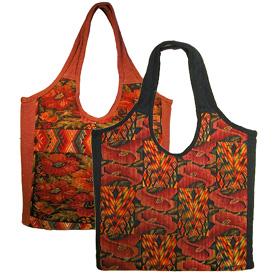 Huipil Handbag - Overdyed  and Handmade in Guatemala Measures: 14 high x 13 wide