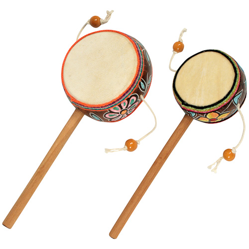 handmade gourd damasa drums with floral patterns from peru fair trade musical instrument. Black Bedroom Furniture Sets. Home Design Ideas