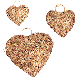 "Recycled Copper Heart Ornaments  Crafted by Artisans in India  Small - 2""h x 1-3/4""w x 3/4""d  Medium - 2-3/4""h x 2-1/4""w x 1""d Large - 3-1/4""h x 3""w x 1""d"