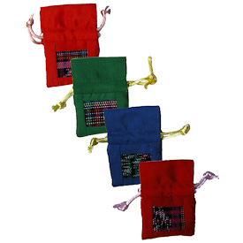 "Assorted Cotton Tooth Fairy Bags  Crafted by Artisans in Guatemala  Measure about 2-3/4"" high x 2"" wide"