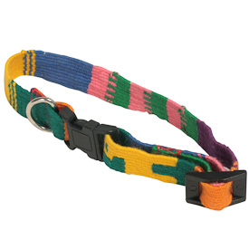 "Cotton Cat Collar  Crafted by Artisans in Guatemala Measures 8"" long and is adjustable"
