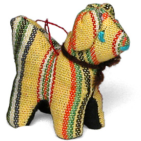 "Dog Ornament Crafted by Artisans in Guatemala  Measures 2-1/2"" high x 1-1/4"" wide x 2-1/4"" long"