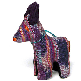 "Donkey Ornament Crafted by Artisans in Guatemala  Measures 4"" high x 1-1/4"" wide x 2-1/4"" long"