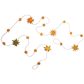 "Orange Peel Garland with Stars  Crafted by Artisans in Colombia  Measures 54"" long"