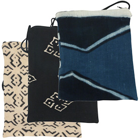 """Mud Cloth Passport Bag  Crafted by Artisans in Mali  Measures 8"""" high x 5-3/4"""" wide"""