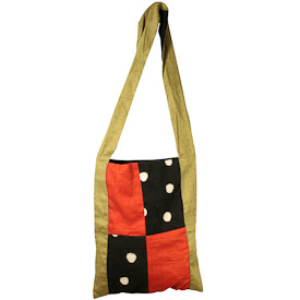 Dotted Mudcloth Square Basin Sack  Crafted by Artisans in Mali