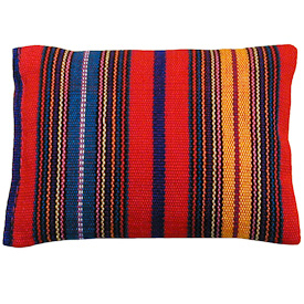 """Sachet from hand woven fabric  Crafted by Artisans in Guatemala  Measure 3-3/4"""" long x 3-1/4"""" wide x 3/4"""" thick"""