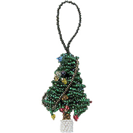 """Christmas Tree Glass Bead Ornaments  Crafted by Artisans in Guatemala  Measure 2-1/2"""" high x 1-1/2"""" wide x 1/2"""" deep"""