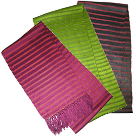 """Assorted Cotton Scarves  Crafted by Artisans in Guatemala  Measures 68"""" long x 8-1/2"""" wide"""