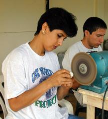 An artisan at work