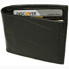 Men's Wallet - Recycled Tire Tube  Measures 4-1/2 high x 3-1/2 wide x 1/4 deep