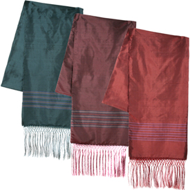 """Colorful Striped Silk Shawls  Crafted by Artisans in Afghanistan  Measures 81"""" long x 23"""" wide"""