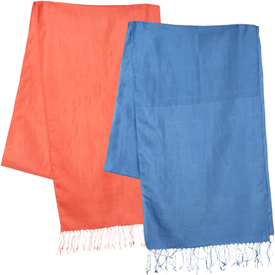 """Colorful Silk Shawls  Crafted by Artisans in Afghanistan  Measure 80"""" long x 26"""" wide"""
