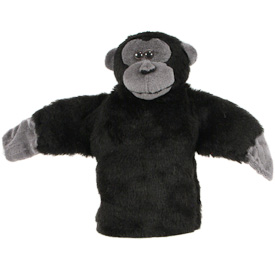 """Mantled Howler Monkey Puppet  Crafted by Artisans in Colombia  Measures 9"""" high x 13"""" across arm to arm"""