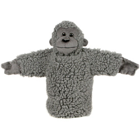 """Wooly Monkey Puppet  Crafted by Artisans in Colombia  Measures 9"""" high x 13"""" across arm to arm"""