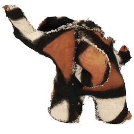 Mud Cloth Elephants  Crafted by Artisans in Mali  Available in Small, Medium and Large