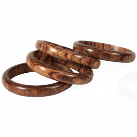 Narrow Handmade Wooden Bangles from Guatemala<br width=275 >Inside Diameter Measures 2-1/2 to 2-1/16 by 7/16 to 1/2 high